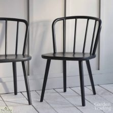 Carbon Spindle Back Dining Chair Pair