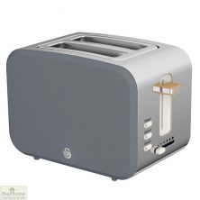 Grey Nordic 2 Slice Toaster
