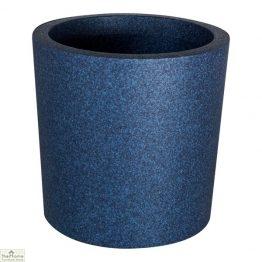 Blue Round Garden Flower Pot
