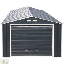 12 x 38 Grey Metal Garage