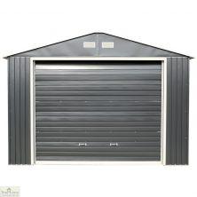 12 x 32 Grey Metal Garage
