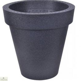 Black Round Garden Planter