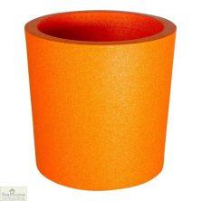 Orange Round Garden Flower Pot