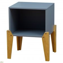 Grey Stacking Box Bedside Table