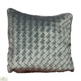 Woven Grey Velvet Cushion Cover
