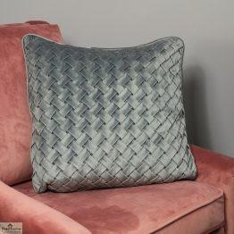 Woven Grey Velvet Cushion Cover_1