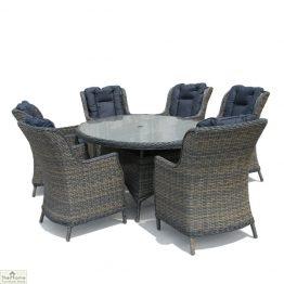 Casamoré Corfu Flint Oval 6 Seater Dining Set