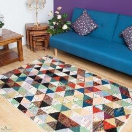 Multicoloured Geometric Design Rug_6