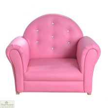 Pink Crystal Rocking Chair