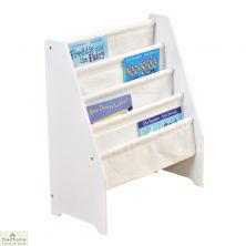 White Canvas Pocket Book Display