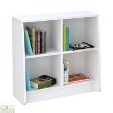 White Low Bookcase