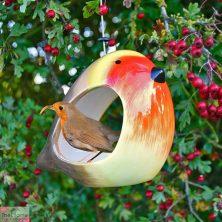 Ceramic Robin Bird Feeder