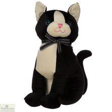 Sitting Black Cat Doorstop