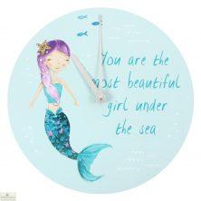 Mermaid Round Wall Clock