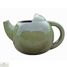 Green Ceramic Teapot Bird Nester
