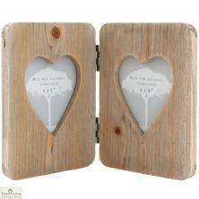 Double Heart Photo Frame
