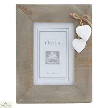 White Heart Rectangular Photo Frame