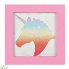 Unicorn Pink Square Photo Frame