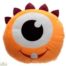 Orange Monster Plush Cushion