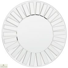 All Glass Round Wall Mirror 61cm