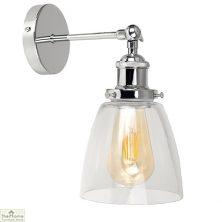 Dome Glass Shade Wall Light