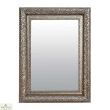 Medium Antique Silver Mirror 102 x 76cm