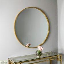 Manhattan Medium Gold Round Mirror