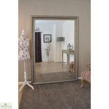 Extra Large Antique Silver Mirror 208 x 147cm