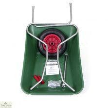 85Ltr Plastic Wheelbarrow Green