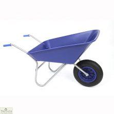 85Ltr Plastic Wheelbarrow Blue